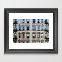 New York Windows Framed Art Print