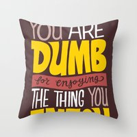 Internet Comments Throw Pillow