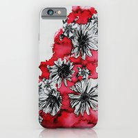 iPhone & iPod Case featuring Red Flowers by Katya Zorin