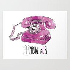 Téléphone Rose  Art Print