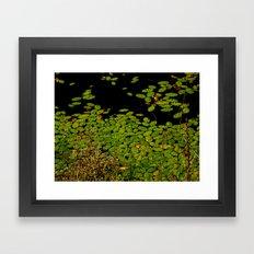 Sprinkles of green Framed Art Print