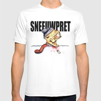 Sneeuwpret (Dutch) Mens Fitted Tee White SMALL