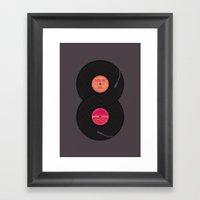 infinity vinyl records Framed Art Print