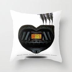 BULLET PROOF HEART Throw Pillow