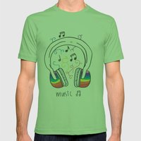 Music Mens Fitted Tee Grass SMALL