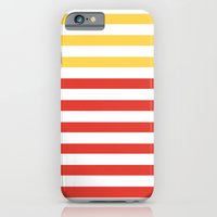 iPhone & iPod Case featuring POPPY STRIPES by natalie sales