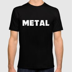 Metal Black SMALL Mens Fitted Tee