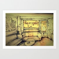 Tjilly bar Art Print