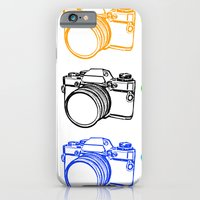 iPhone & iPod Case featuring Black on White Camera by Caz Haggar