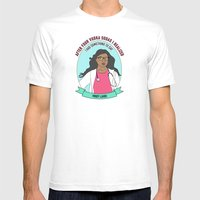 Mindy Lahiri / Kaling Print Mens Fitted Tee White SMALL