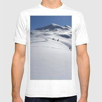 Approaching Tincan Peak Mens Fitted Tee White SMALL