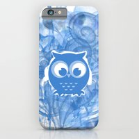 iPhone & iPod Case featuring Blue Owl by Stylistic