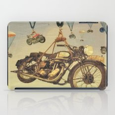 Vintage Motorcycle Show Poster iPad Case