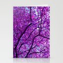 purple tree XXXI Stationery Cards