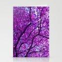 purple tree XXXI Stationery Cards
