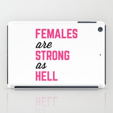 Females Strong Hell Gym Quote iPad Case