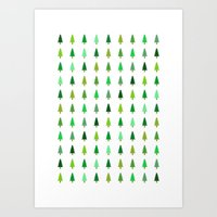 99 Trees, None Of Them A… Art Print