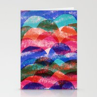 Scallop print Stationery Cards