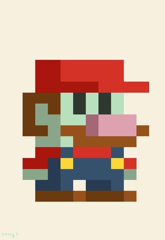 Zombie Mario Art Print
