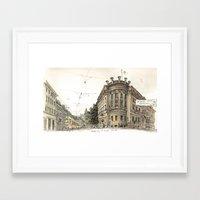 Basel Sketchbook Framed Art Print