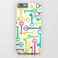 Colorful Vintage Keys iPhone 6 Slim Case