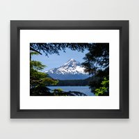 Mount Hood from Lost Lake Framed Art Print