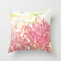 Burst of Red Throw Pillow