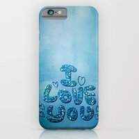 iPhone Cases featuring I love you - Sparkling Glitter by UtArt