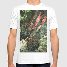 waterfall Mens Fitted Tee White SMALL