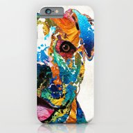 Colorful Dog Pit Bull Ar… iPhone 6 Slim Case