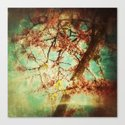 Vintage Abstract Blossom Canvas Print