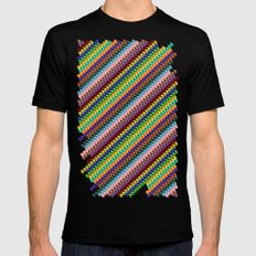 Up and Down Mens Fitted Tee Black SMALL