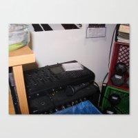 Simple Recording Setup Canvas Print
