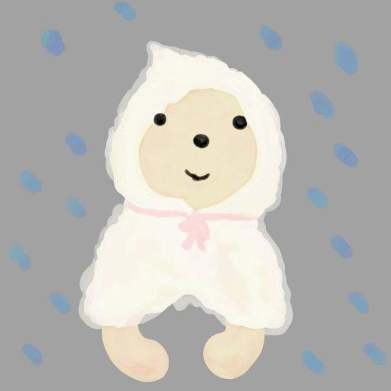 Alternative rain wear(Retriever wears a plastic bag in the rain) Canvas Print