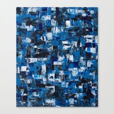 Blue Blade Painting Canvas Print