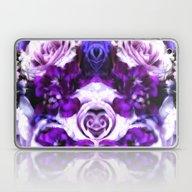 Purple Pink Flowers Laptop & iPad Skin