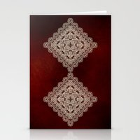 Silvery Doodle Stationery Cards