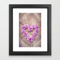 Rose Heart Framed Art Print