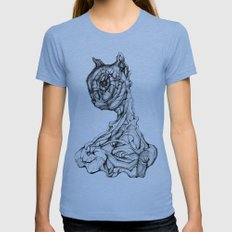 Feline Sentient Womens Fitted Tee Athletic Blue SMALL