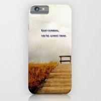 iPhone & iPod Case featuring Keep Climbing by KarenHarveyCox