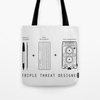 Triple Threat Designer Tote Bag