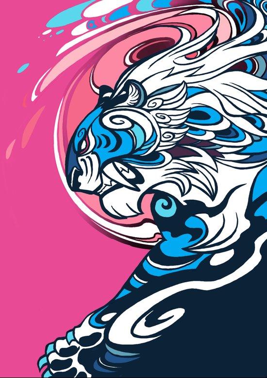 Whirlwind Tiger Art Print