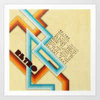 Retro Meaning Art Print