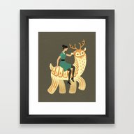 To The Party! Framed Art Print