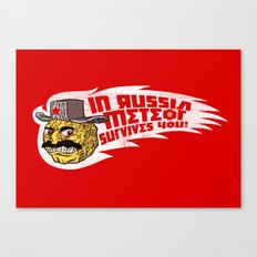 Rushin' Meteor Canvas Print