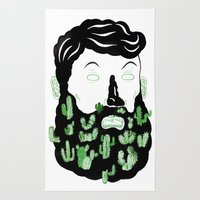 Cactus Beard Dude Rug