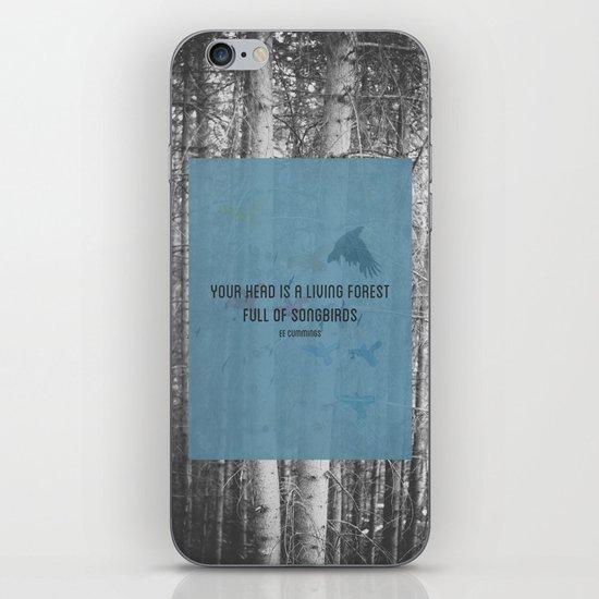ee cummings - songbirds. iPhone & iPod Skin