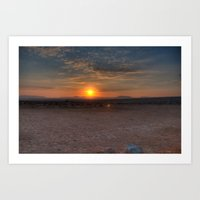 Sunrise Over The Negev Art Print