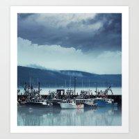Digby Wharf Art Print
