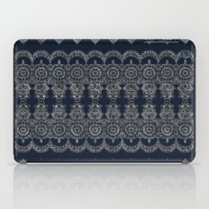 Silvery Striped Doodle iPad Case